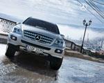 Obrázek - Stříbrný Offroad Mercedes Benz M