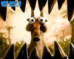 Obrázek - Veverka hledící smrti do úst v pohádce Ice age 3
