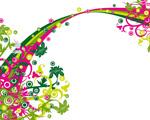 Obrázek - Pestrobarevné květiny ve vektoru