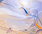 Obrázek - Žlutomodré pozadí vektorové poezie