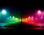 Obrázek - Barevně osvětlené parkoviště