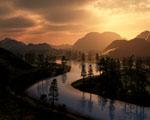 Obrázek - Bouřkové mraky nad řekou