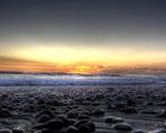 Obrázek - Kalifornské pláže při východu slunce