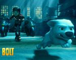 Obrázek - Bolt a jeho panička na koloběžce