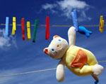 Obrázek - Hračka mezi barevnými kolíčky