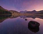 Obrázek - Kámen na hladině jezera