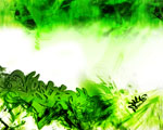 Obrázek - Zelenobílá grafity abstrakce