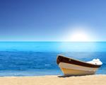 Obrázek - Loďka na pláži