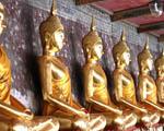 Obrázek - Zlaté sošky Thajska