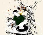 Obrázek - Vektor DJ hraje pro všechny