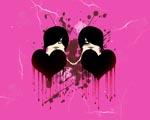 Obrázek - EMO dvojité krvácející srdce