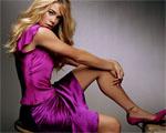 Obrázek - Denise Richards v purpurových šatech