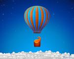 Obrázek - Výlet slona v balónu