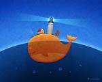 Obrázek - Velryba a její malý svět