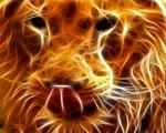 Obrázek - Pes zobrazený ve 3D abstrakci