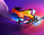 Obrázek - Pestrobarevná abstrakce tvarů ve 3D