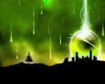 Obrázek - Tmavě zelené město v noci