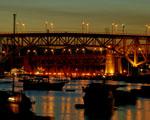 Obrázek - Říční průmyslová oblast v noci