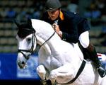 Obrázek - Skok odvahy mezi koněm a jezdcem