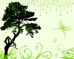 Obrázek - Přírodní abstrakce v zelených barvách