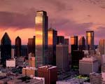 Obrázek - Město Dallas v Texasu při východu slunce