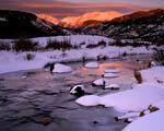 Obrázek - Pohádkový západ slunce nad horami