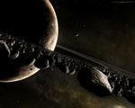 Obrázek - Prstenec kolem planety v detailu