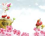 Obrázek - Jarní radost nad květinami