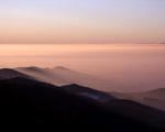 Obrázek - Zahalený západ slunce do mlhy