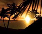 Obrázek - Západ slunce nad Fidži
