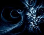 Obrázek - Točivá modrá abstrakce