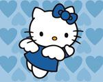Obrázek - Andělsky modrá Hello Kitty
