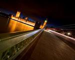 Noční pohled z mostu v Londýně