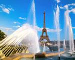 Obrázek - Eiffelová věž v zákrytu fontány