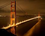 Obrázek - Most Golden gate ve zlatém oparu