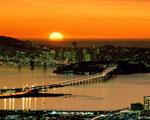 Obrázek - Zátoka při západu slunce