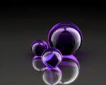 Obrázek - Fialové koule v abstrakci
