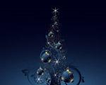 Obrázek - Překrásný tmavomodrý vánoční strom