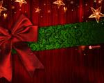 Obrázek - Krásná rudá vánoční mašle