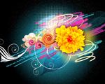 Obrázek - Barevné květy ve vektoru