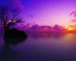 Obrázek - Fialový západ slunce nad Maledivy