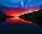 Obrázek - Pekelný západ slunce