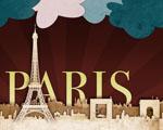 Obrázek - Pěkná abstrakce města Paříž