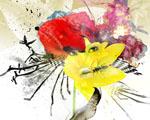 Obrázek - Žena skrytá v květinách