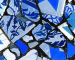 Obrázek - Modrá mozaika dlaždiček