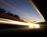 Obrázek - Noční provoz na dálnici