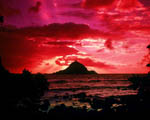 Obrázek - Havaj a červený západ slunce