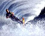 Obrázek - Vodní lyžování na oceánu v Havaji