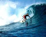 Obrázek - Surfař v oceánu na Havaji