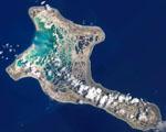 Obrázek - Satelitní snímek ostrovu Kiritimati